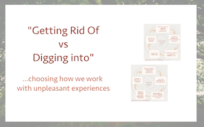 Getting Rid Of vs Digging Into
